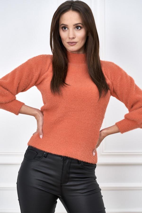 Sweter półgolf z bufiastymi rękawami LIBBY 3
