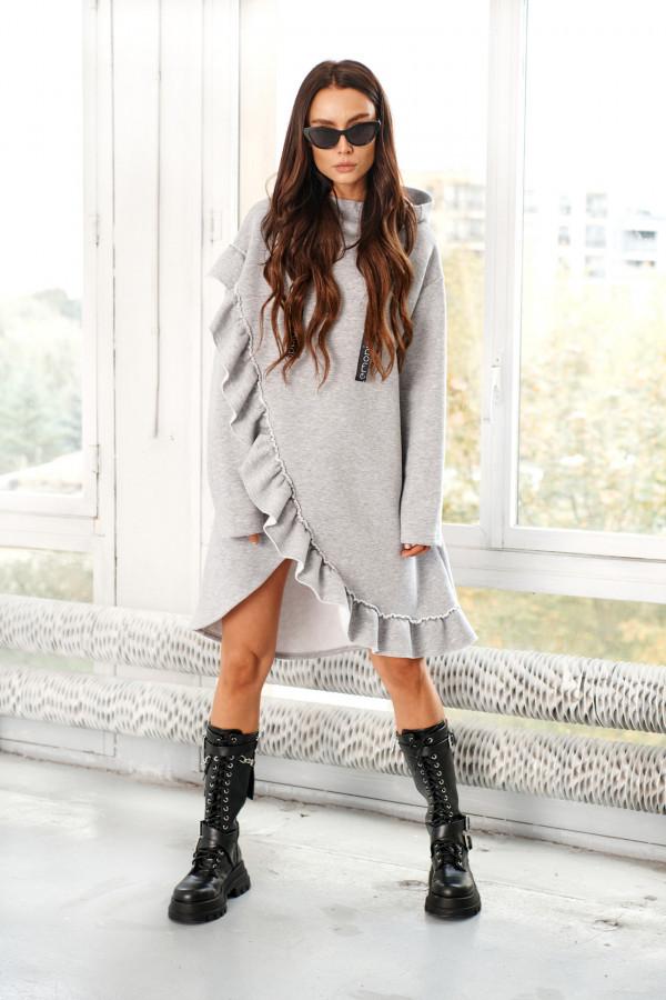 Bluza sukienka z falbaną LISA