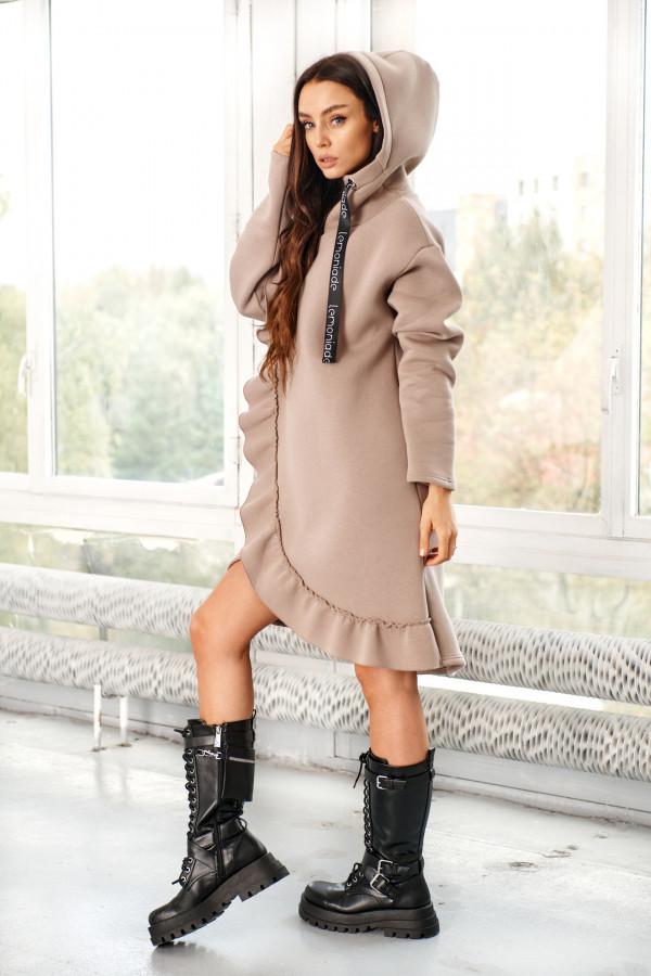 Bluza sukienka z falbaną LISA 1