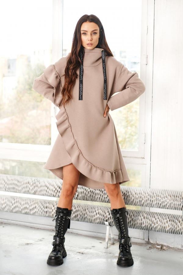 Bluza sukienka z falbaną LISA 2