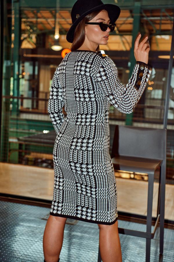 Sukienka w pepitkę MELANIE 3