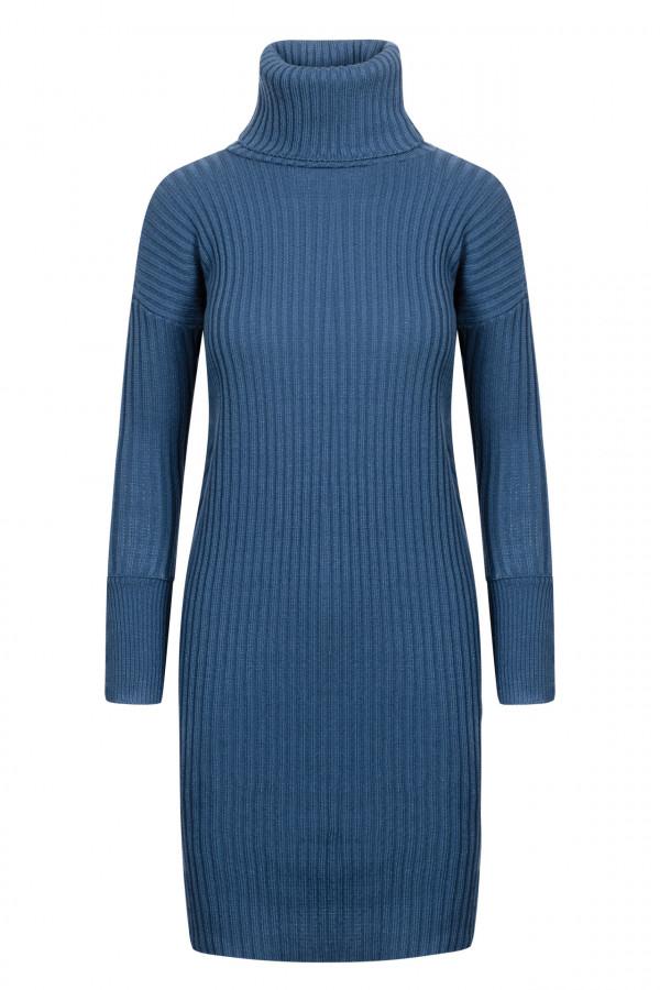Sukienka swetrowa z golfem ALASKA 3
