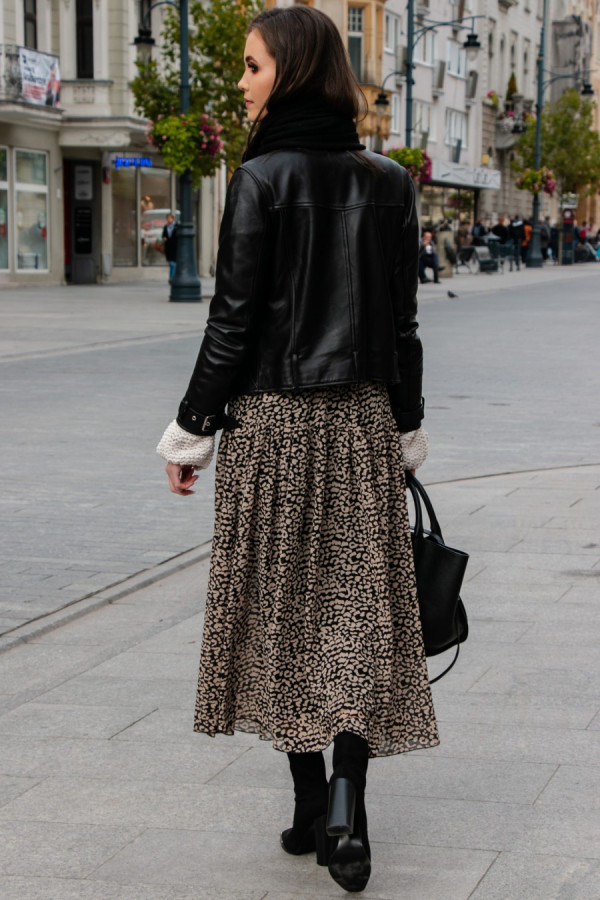 Spódnica maxi we wzory LEONA 1