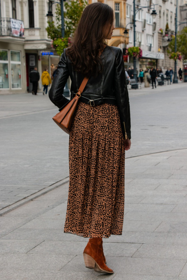 Spódnica maxi we wzory LEONA 2
