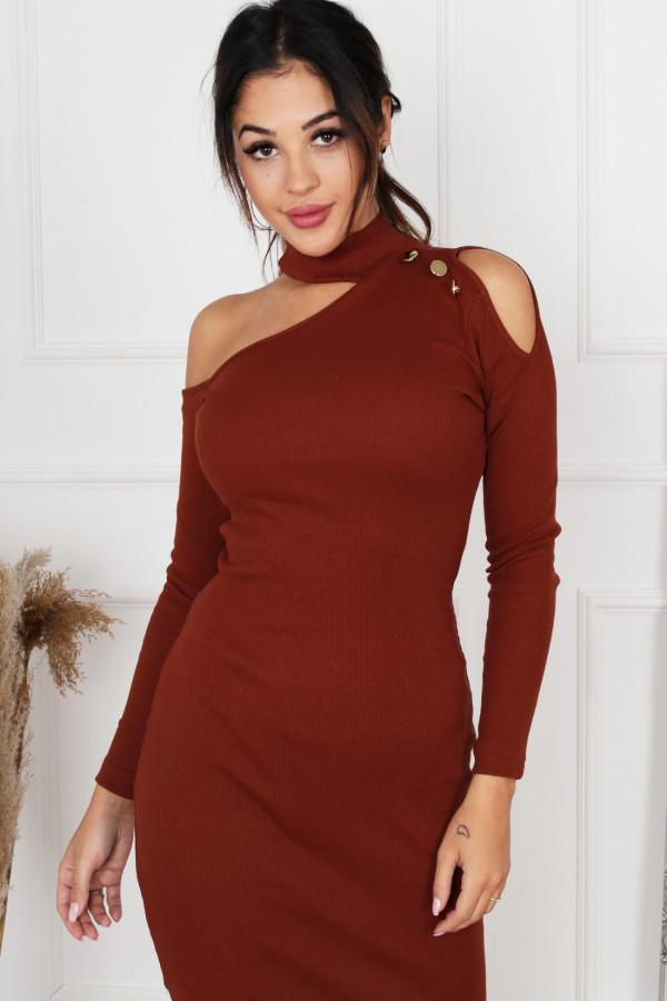 Sukienka midi z rozcięciem AMANDA 2