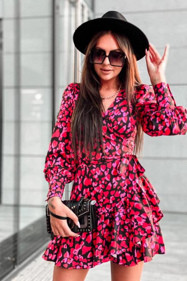 Kopertowa sukienka serca ANNA 5
