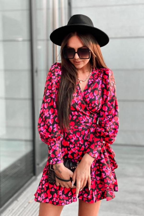Kopertowa sukienka serca ANNA 1