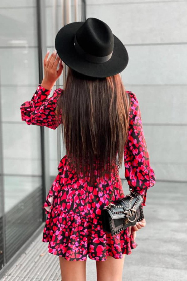Kopertowa sukienka serca ANNA 2