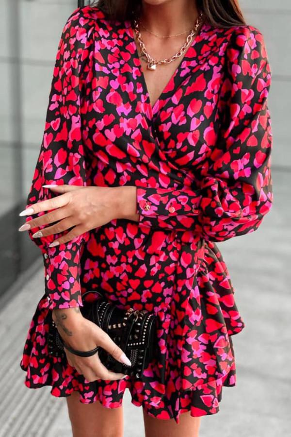 Kopertowa sukienka serca ANNA 7