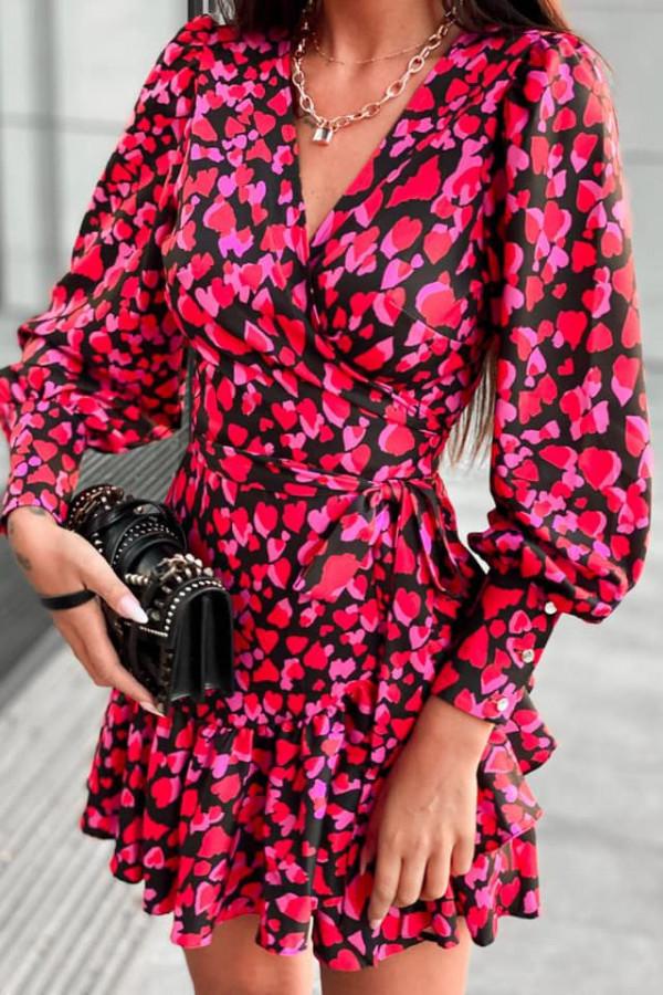 Kopertowa sukienka serca ANNA 8