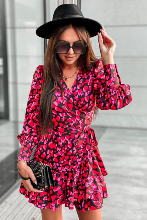 Kopertowa sukienka serca ANNA 3