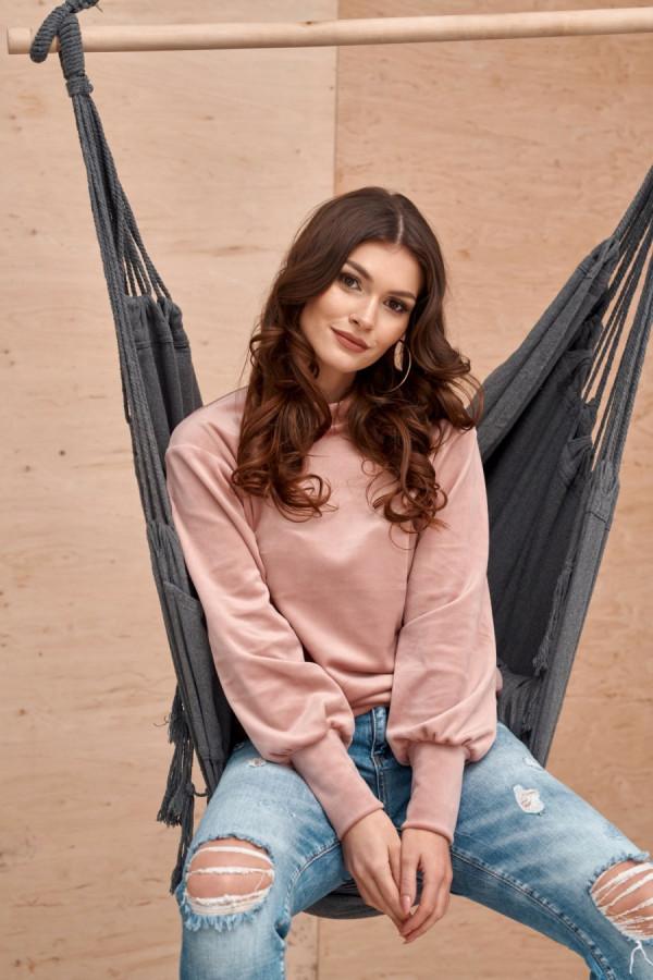 Welurowa bluzka SARA