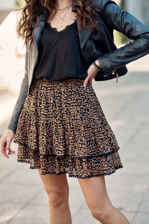 Spódnica mini we wzory LORA