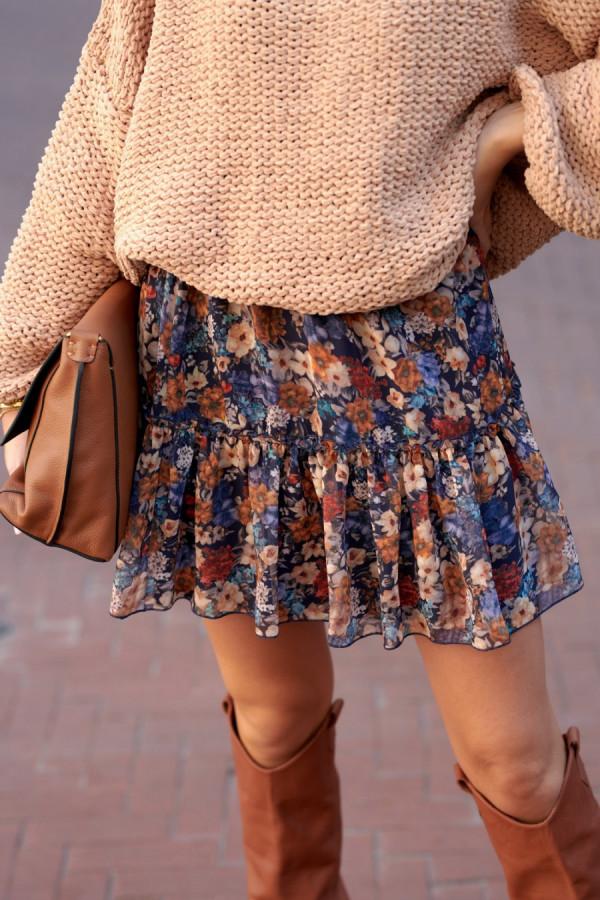 Spódnica mini kwiaty SANDRA