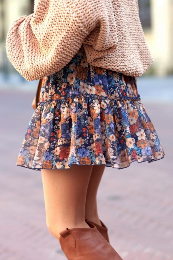 Spódnica mini kwiaty SANDRA 2