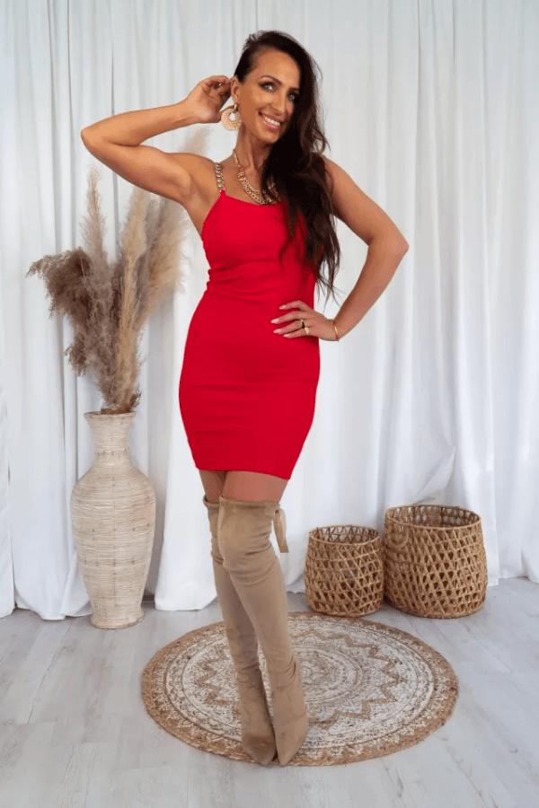 Sukienka z łańcuszkami BEA