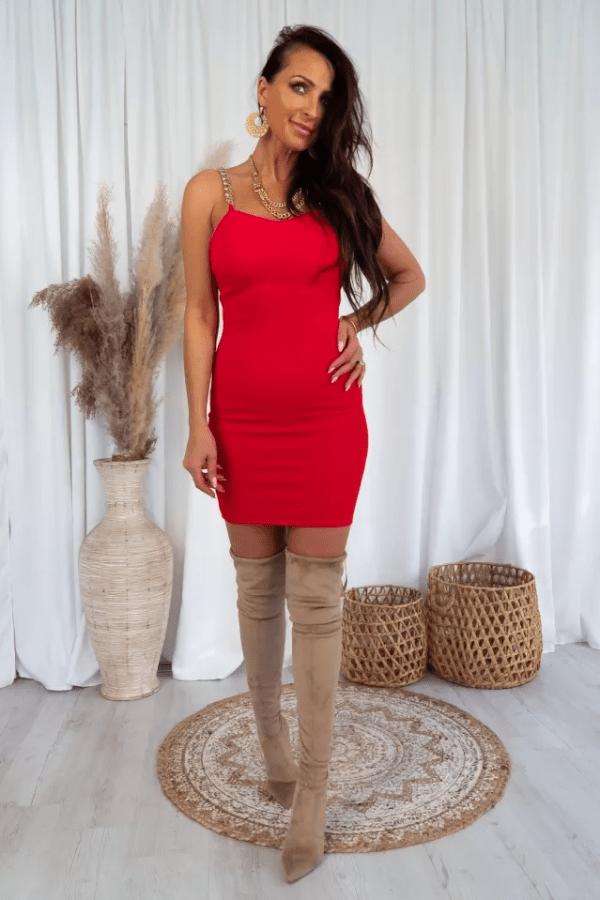 Sukienka z łańcuszkami BEA 1