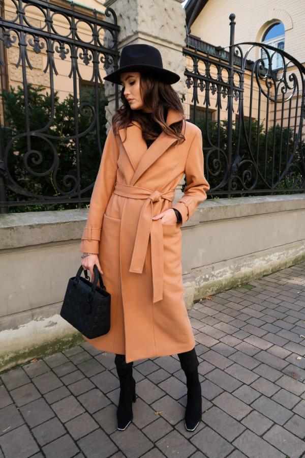 Długi płaszcz wiązany DARCY 2