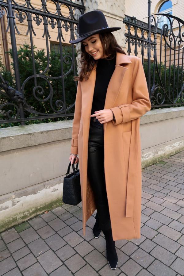 Długi płaszcz wiązany DARCY 3