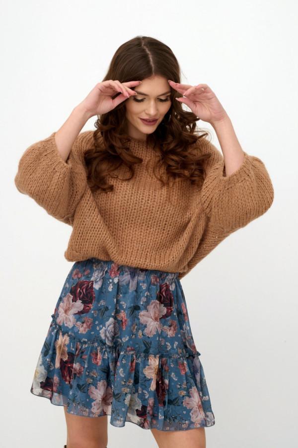 Spódnica mini w kwiaty FLORA