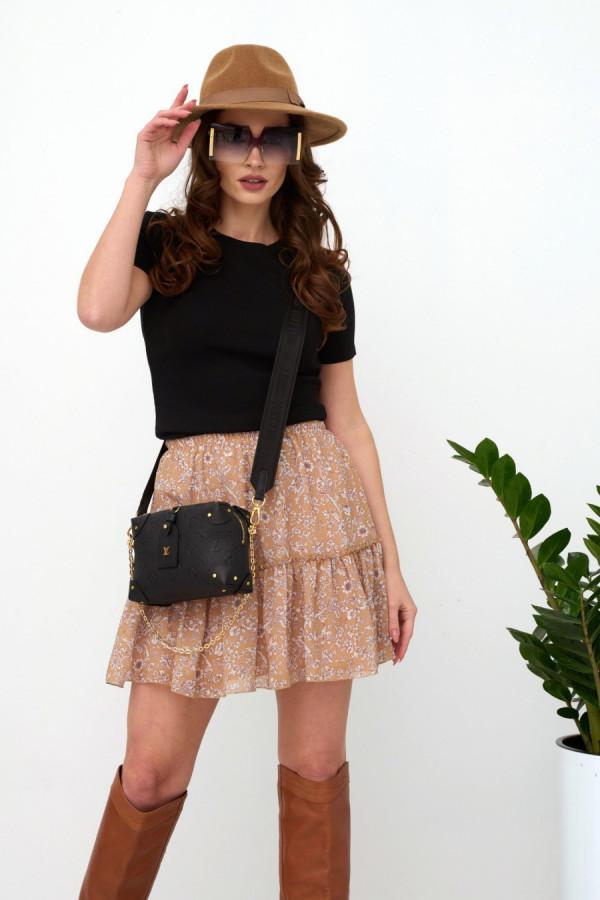 Spódnica mini w kwiaty FLORA 1