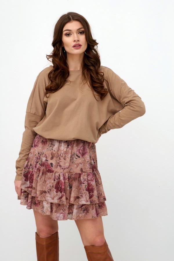 Spódnica mini w kwiaty AUSTIN 1