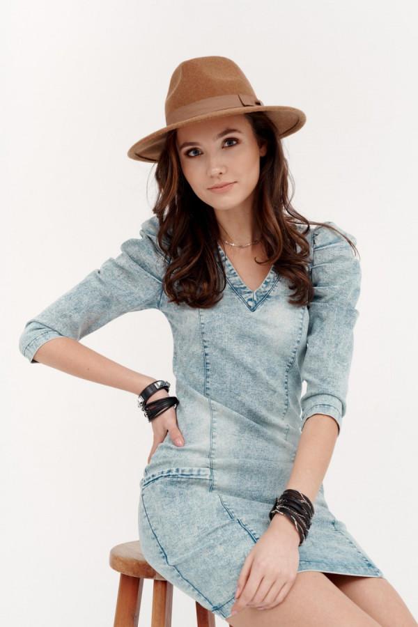 Sukienka jeans bufki NOVIKA