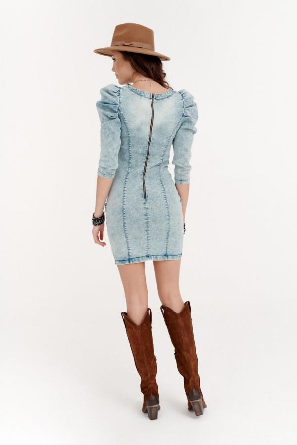 Sukienka jeans bufki NOVIKA 2