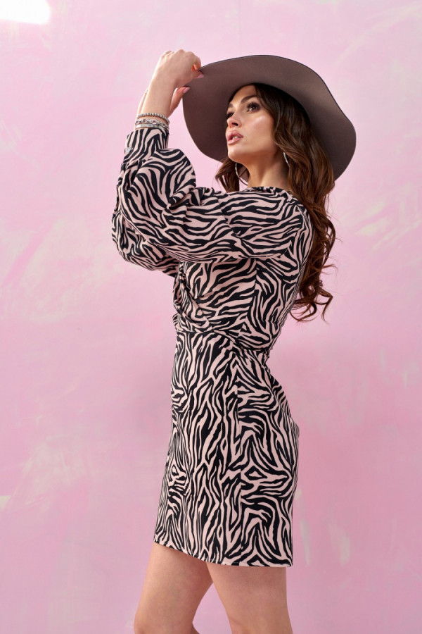 Sukienka mini zebra WILD 2