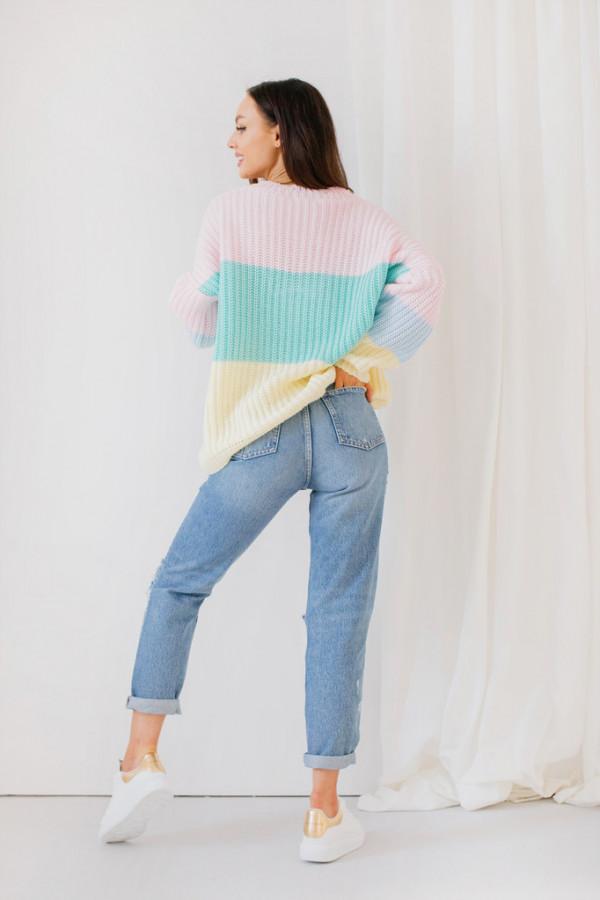 Oversizowy sweter w paski PATTY 4