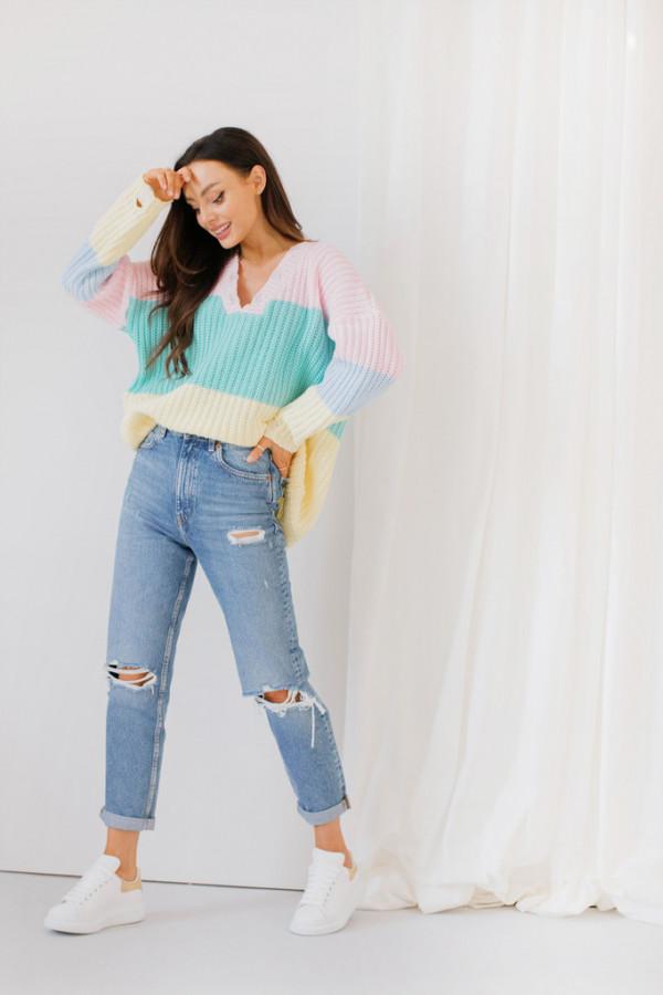 Oversizowy sweter w paski PATTY 3