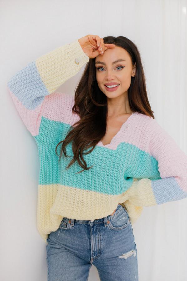 Oversizowy sweter w paski PATTY