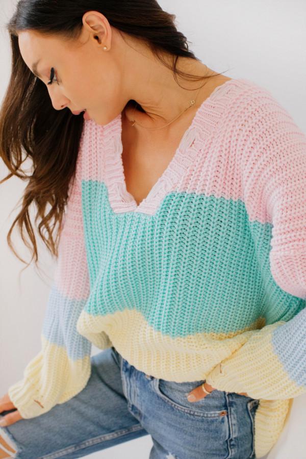 Oversizowy sweter w paski PATTY 2