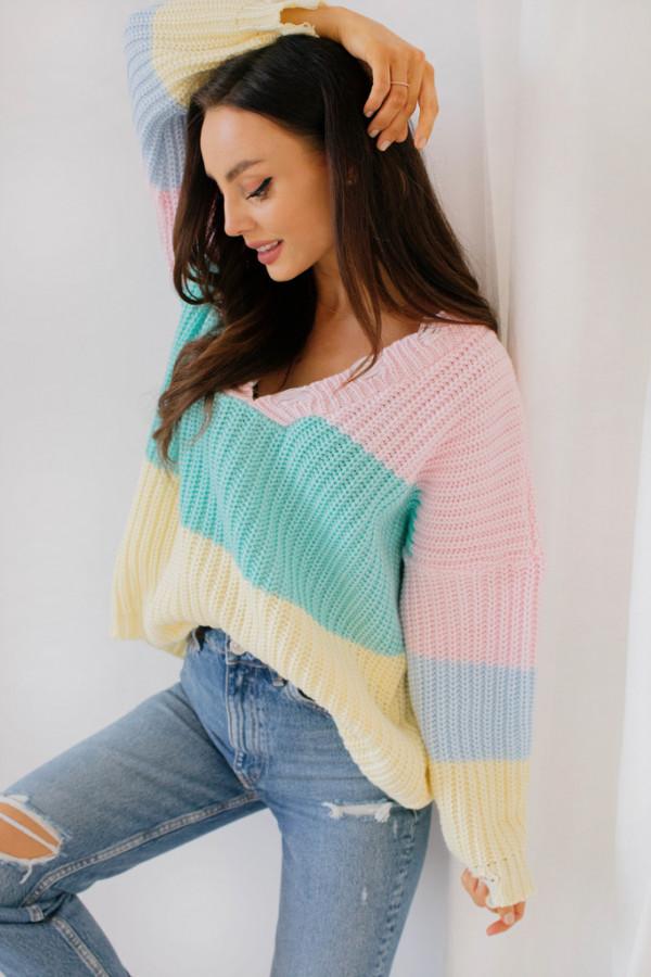 Oversizowy sweter w paski PATTY 1
