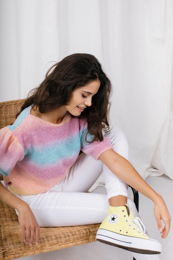 Sweter tęcza z bufkami ROMINA 2