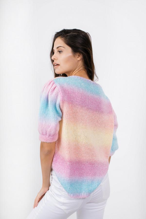Sweter tęcza z bufkami ROMINA 3