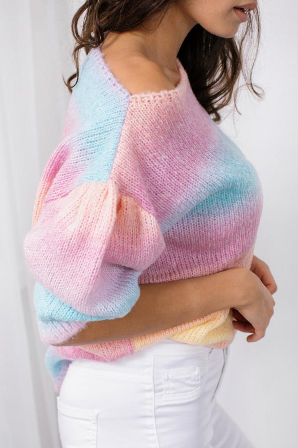 Sweter tęcza z bufkami ROMINA 5