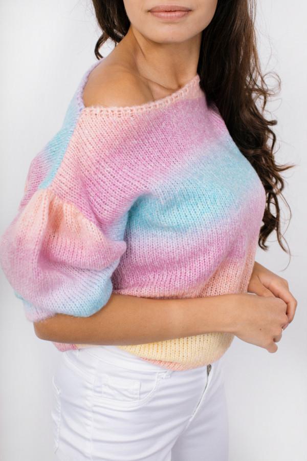 Sweter tęcza z bufkami ROMINA 6