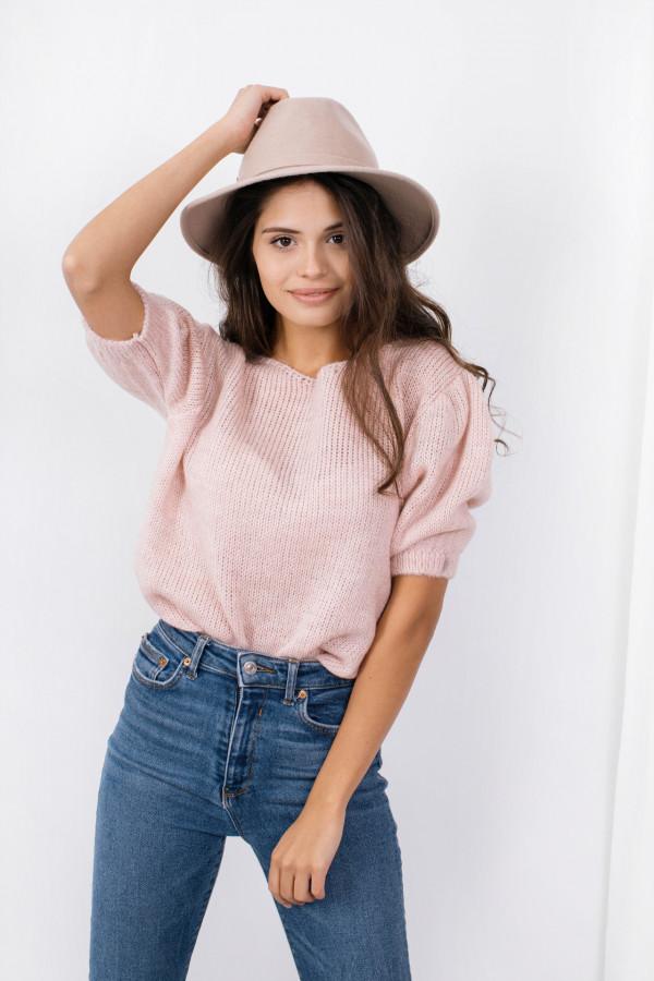 Sweter z bufkami SWAN