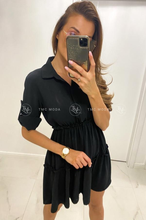 Sukienka szmizjerka z falbanką INA 1