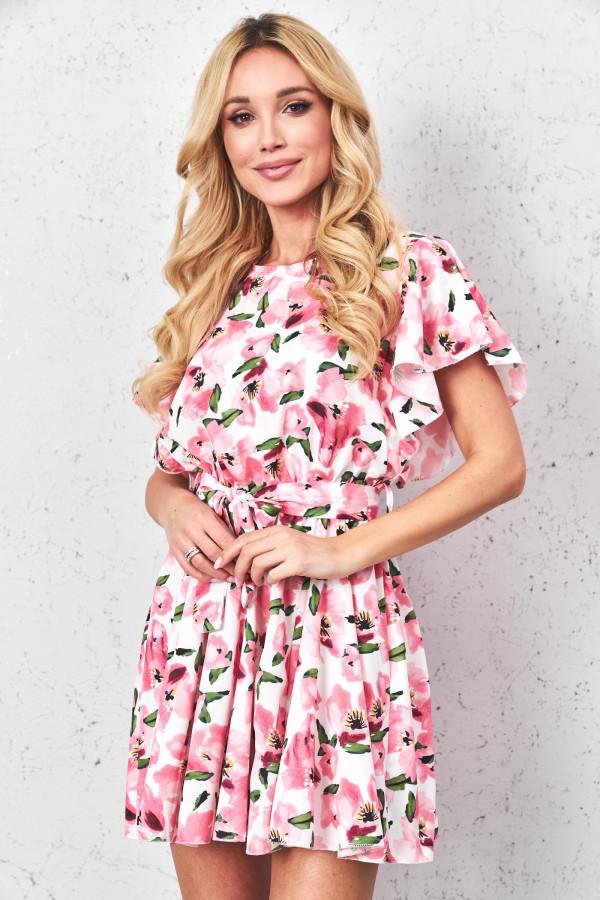 Sukienka w kwiaty z paskiem FIORI 3