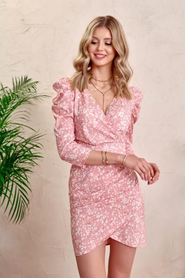 Sukienka z bufkami MARGARET