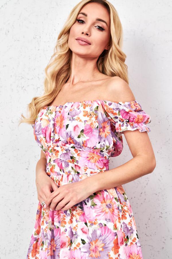 Sukienka hiszpanka w kwiaty GINNA 2