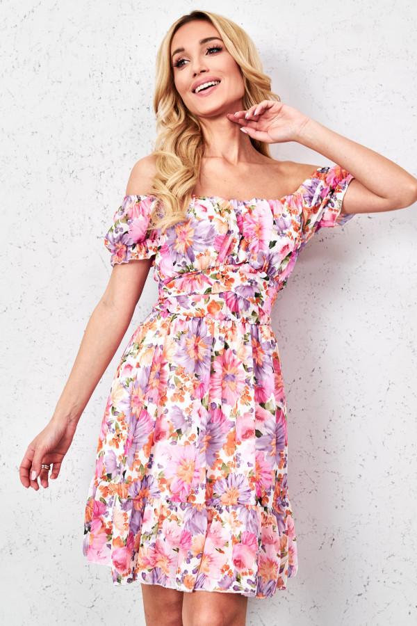 Sukienka hiszpanka w kwiaty GINNA 4