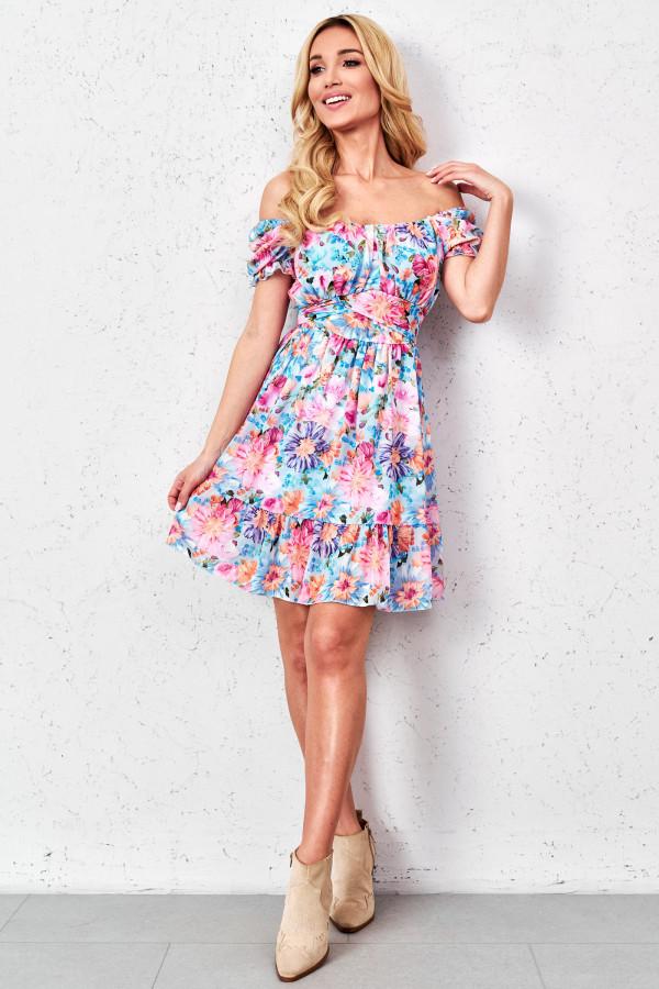 Sukienka hiszpanka w kwiaty GINNA