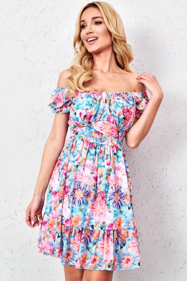 Sukienka hiszpanka w kwiaty GINNA 1