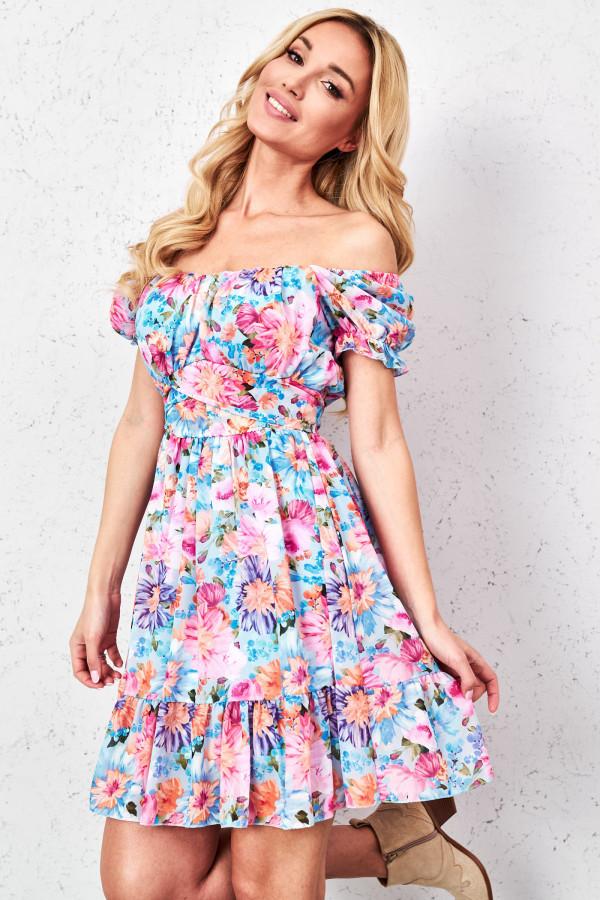 Sukienka hiszpanka w kwiaty GINNA 3