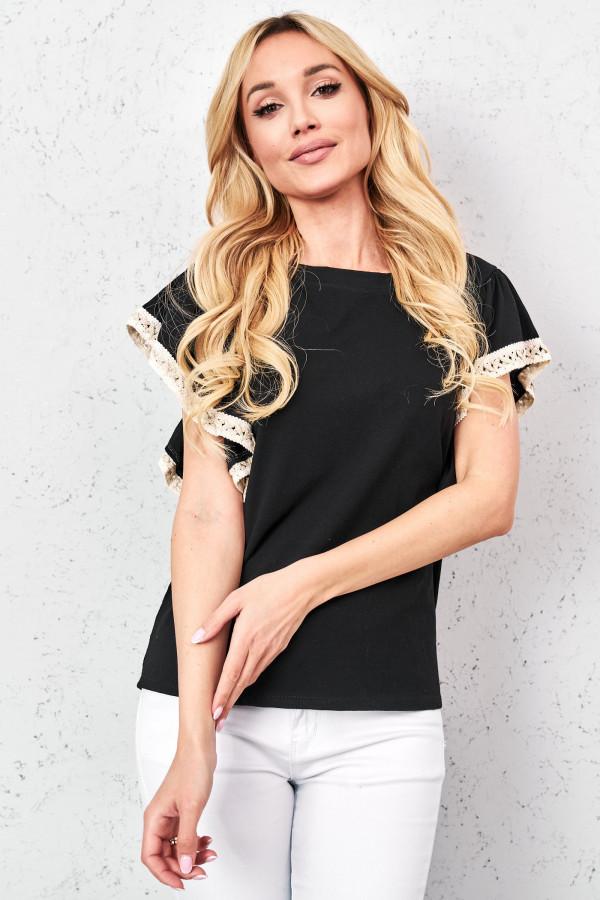 T-shirt z ozdobną taśmą MELANIE 3