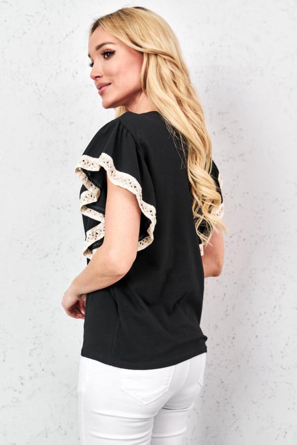 T-shirt z ozdobną taśmą MELANIE 4