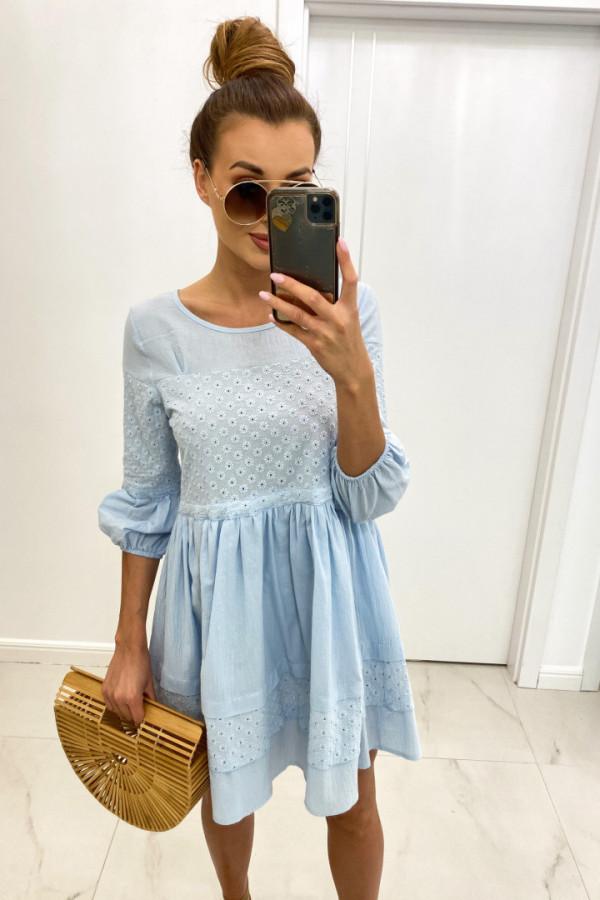Sukienka bawełna haft LORA 1